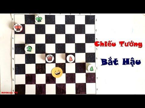 Hội Quán Cờ Vua - Chiếu Tướng Bắt Hậu - Chess Game Tutorial For Kids thumbnail