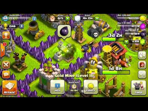 Boost For Only 1 Gem!  Gold Mine, Elixir Collector, Dark Elixir Drill - KissMyBarch - TheDon1824