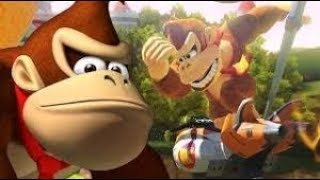 donkey kong hits the dab in the middle of the race mario kart 8