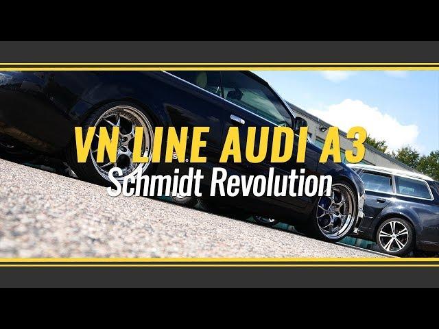 Audi A4 Cabrio mit Schmidt Revolution VN Line 3tlg in 8,5 und 10x20 und KW Variante 3