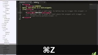 Sublime Text 2 tutorial part 11: Your First Snippet