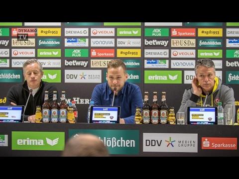 19. Spieltag | SGD - FCU | Pressekonferenz nach dem Spiel
