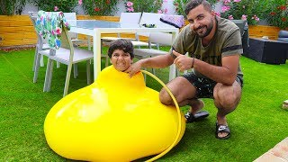 Je suis rentré dans un ballon géant ,adel sami les boys tv