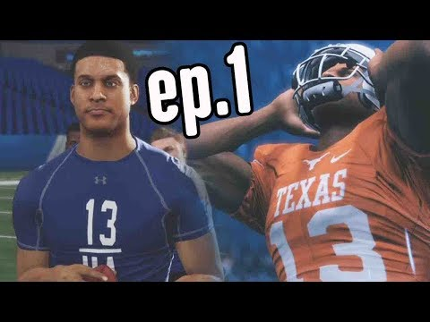 Madden 18 Longshot Gameplay Walkthrough Ep.1 - HIGH SCHOOL GAME & NFL DRAFT COMBINE!