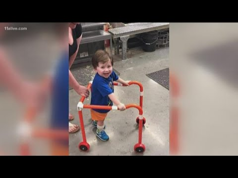 Lulu - Home Depot Employees Build Walker for 2yr. Old Boy