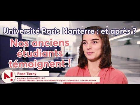 Université Paris Nanterre : et après ? Nos anciens étudiants témoignent !