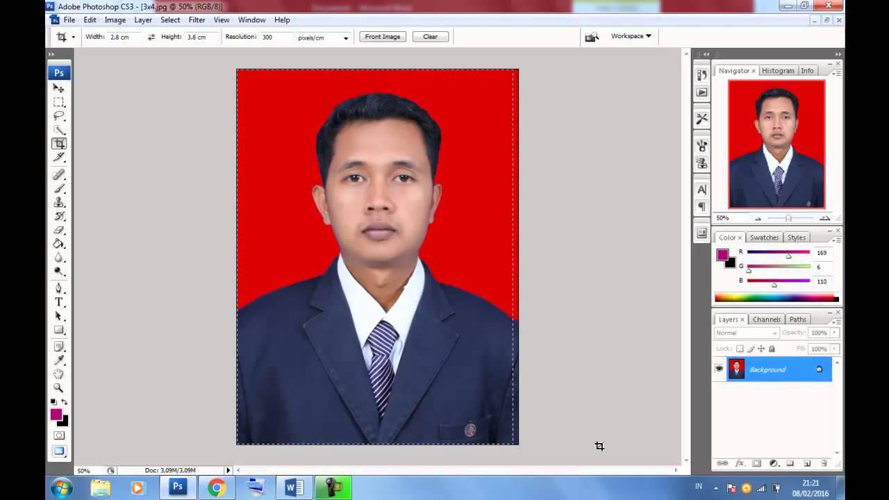 Cetak Pas Photo dengan Photoshop CS3 - YouTube