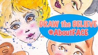 How to Draw the Believe Face   #BigArtQuest #aboutFace #2a