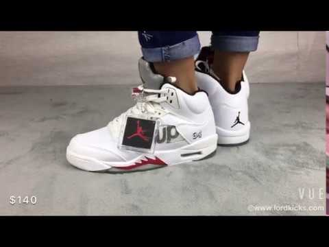 nice kicks perfectkicks fake or authentic Authentic Supreme X Air Jordan 5 White