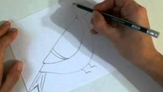Рисуем быстро и просто.Как нарисовать Поющую птичку.(Это видео уроки рисования для детей, с помощью которых можно нарисовать рисунок даже без навыков рисования., 2015-10-27T11:58:46.000Z)