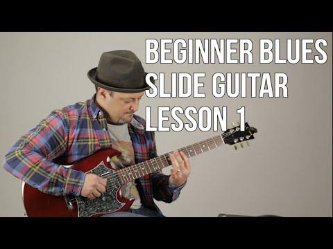 download Super Beginner Blues Slide Guitar Lesson - Basic Slide Guitar Techniques 1