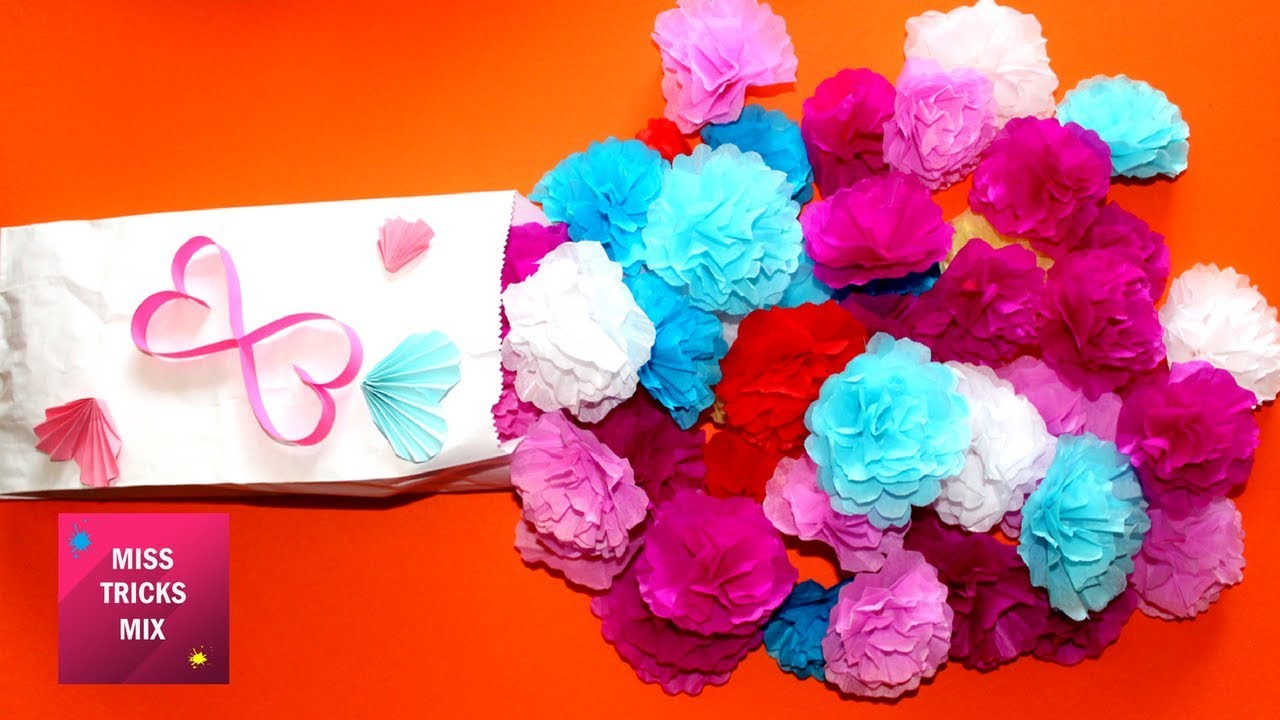 How To Make Small Tissue Paper Flower Simple Tutorial For How To