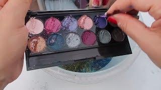 Makeup Slime Mix Challenge ! Ruj vs  Göz farı Hangisi güzel Slime süsledi ? Bidünya Oyuncak
