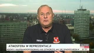 Jan Tomaszewski o zmianie selekcjonera reprezentacji Polski (Gość Poranka TVP Info,  r.)