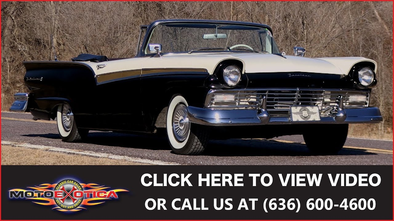 1957 ford fairlane 500 sunliner for sale youtube  1957 ford fairlane 500 sunliner for sale