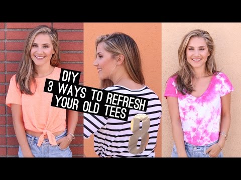 DIY: 3 Things To Do With An Old T-Shirt! (STYLEWIRE)