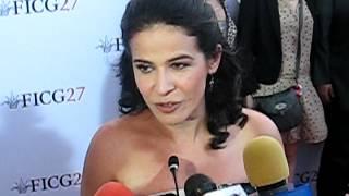 ARCELIA RAMÍREZ, Breve entrevista en FICG27