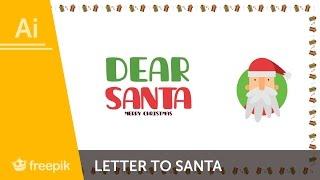 How to create a Letter to Santa in Adobe Illustrator - Maria Keller | Freepik