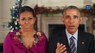 Merry Christmas 2016 Message from President Obama and First Lady Michelle Obama