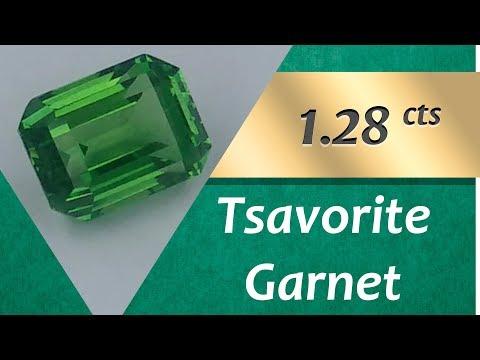Tsavorite Garnet. 1.28 Carat Natural Tsavorite Garnet