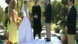 Bride Falls in Pool...Best Man Falls on Bride(http://www.videosundry.com/ - Bride falls in pool after best man slips and falls. I'm wondering if this was set up? The reactions sound pretty real, but really...who ..., 2008-10-15T07:54:59.000Z)