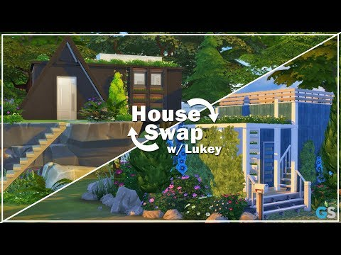 The Sims 4 | Speed Build | Tiny Home Swap w/ Lukey