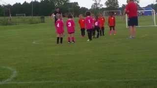 bysa girls soccer u6 orange vs u6 pink game 1