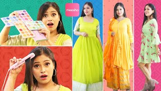 Most Affordable Festive कुर्ती Haul, Western Dresses, Sasta Makeup, TestingWeird Products fromMeesho