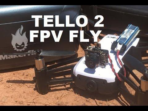DJI RYZE TELLO 2 FPV FLIGHT Makerfire Goggles AKK AIO 200 mW REVIEW