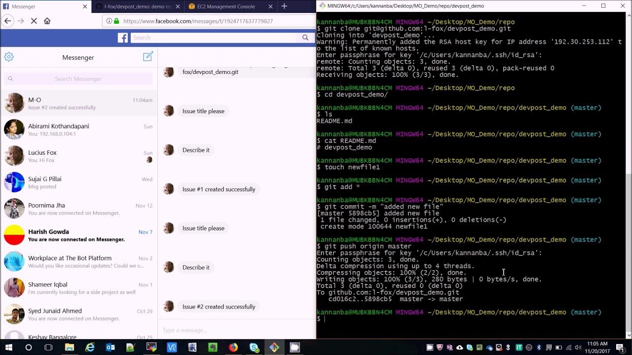 Github Messenger Bot
