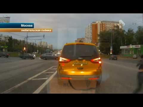 Жестокое избиение пассажира такси на дороге в Москве попало на видео