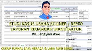 Membuat Laporan Keuangan Usaha Manufaktur Usaha Resto Kuliner Dengan Microsoft Excel Part 1 Youtube