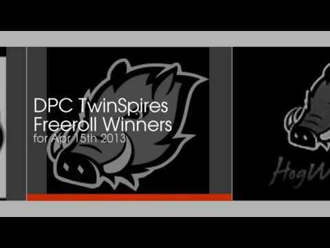 HogWild Derby Poker Championship TwinSpires Free Roll Winners Apr 15th 2013