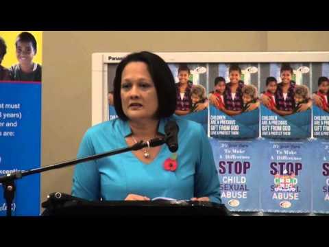 Fijian Minister for Women, Hon.Rosy Akbar launch Prevention of Child Abuse.