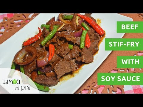 BEEF STIR-FRY WITH SOY SAUCE