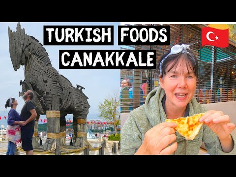 Eating Some Unusual TURKISH FOODS Exploring CANAKKALE