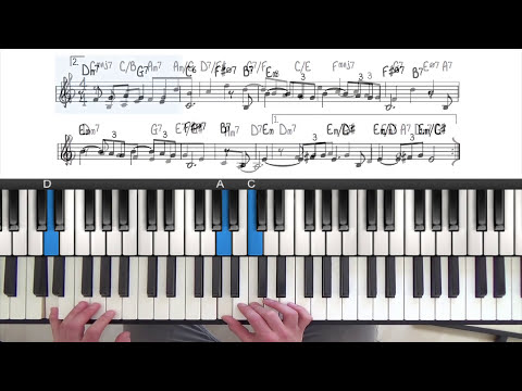 My One & Only Love Jazz Piano Tutorial Lesson