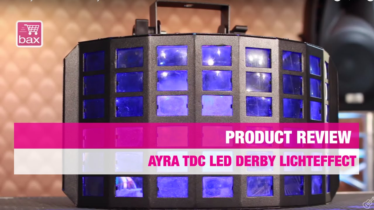 & Review Ayra TDC LED Derby lichteffect - YouTube azcodes.com