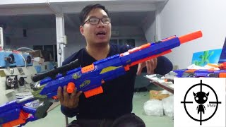 [REVIEW] รีวิวปืนเนิร์ฟ Nerf N-Strike Longstrike สไนเปอร์ในตำนาน