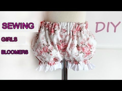 Patterns for Kids SEWING TUTORIAL: How to make girl\'s bloomers DO IT ...