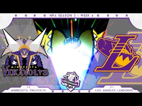 RIDE THE WAVE! | Minnesota Vikavolts VS Los Angeles Landorus Week 4 NPA S3  | Pokemon Sun Moon WiFi