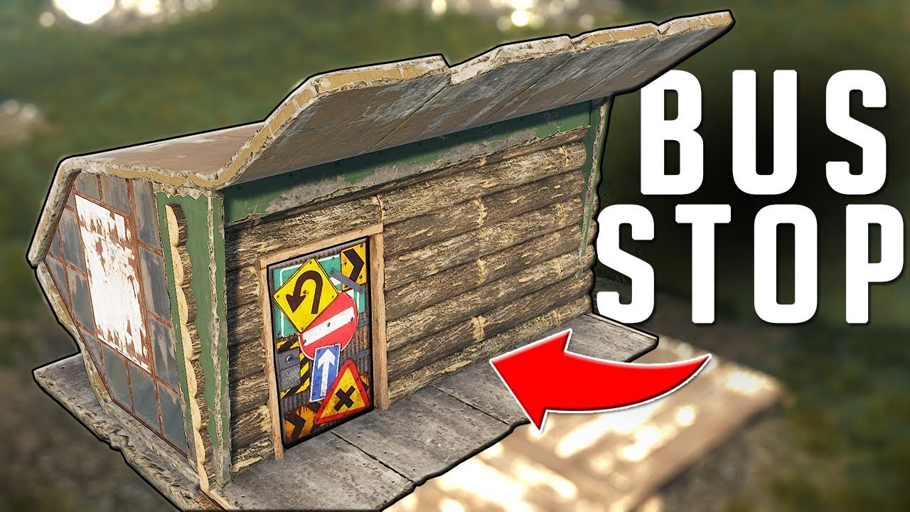 WOW This AMAZING BUS STOP Made Me RICH - Rust Trap Base