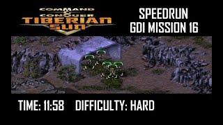 SPEEDRUN: C&C Tiberian Sun GDI Mission 16 (Hard). NO GLITCH.