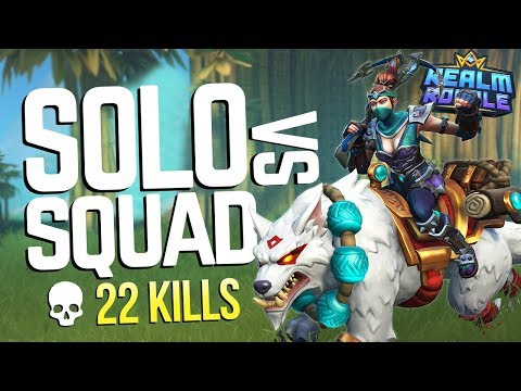 Solo vs Squads 22 KILLS! Realm Royale Mage Gameplay