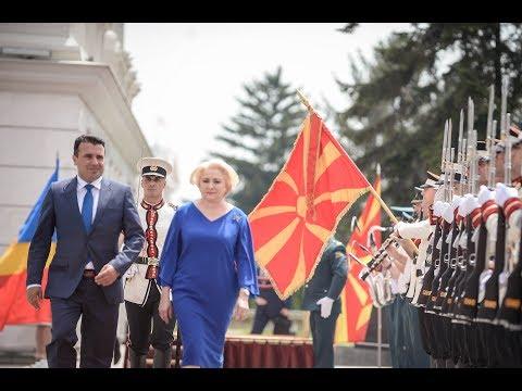 Официјална посета на Романија во Република Македонија предводена од премиерката Данчила