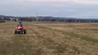 Quad Bike Stunts on a Kymco 300