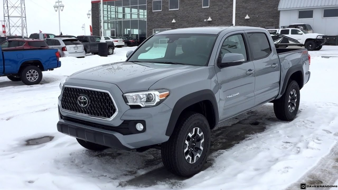 2018 Toyota Tacoma Trd Off Road In Cement Grey Metallic Youtube