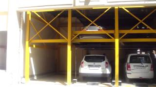 Indian automatic parking garage for Compact mercedes benz crossword
