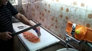 חיתוך אחורי  עגבניות ומלפפונים