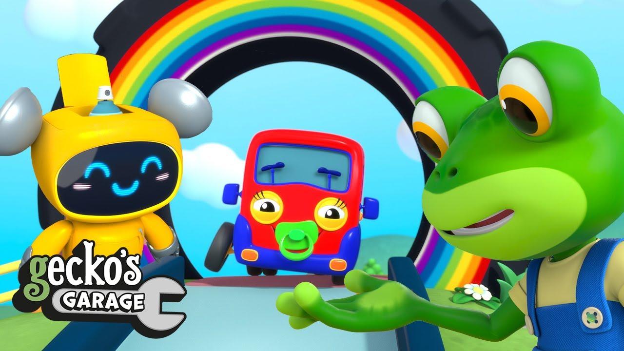 Baby Truck Gets Hurt! | Gecko's Garage | Truck Videos | Cartoons For Kids